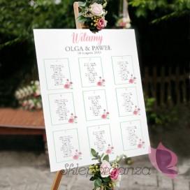 Plan stołów – personalizacja kolekcja VINTAGE ROSE