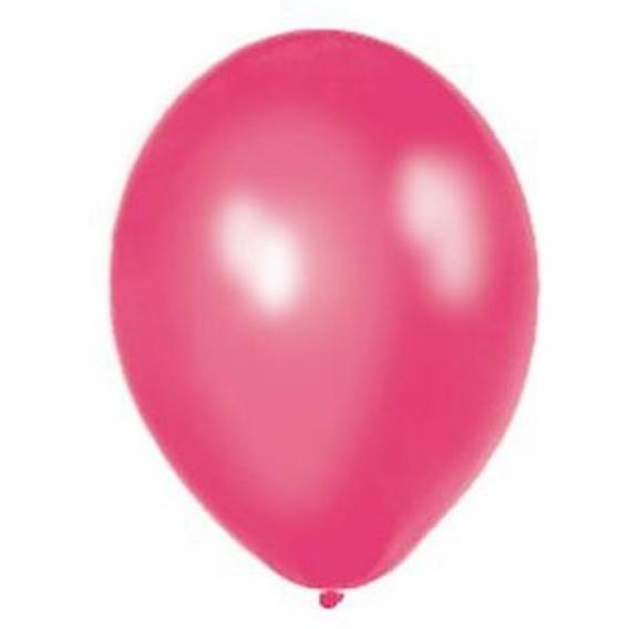 Balony metaliczne Balony METALICZNE ciemnoróżowe 30 cm, 100 sztuk