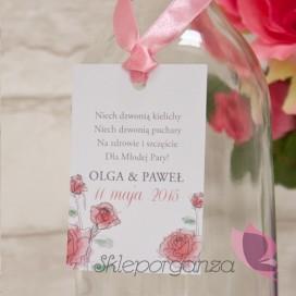 VINTAGE ROSE Zawieszka na alkohol - personalizacja kolekcja VINTAGE ROSE