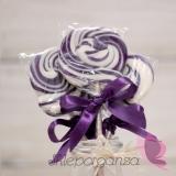 Kręcone lizaki na wesele Lizak okrągły fioletowy