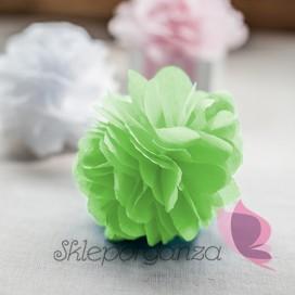 Papierowy kwiat, jasnozielony, 15cm