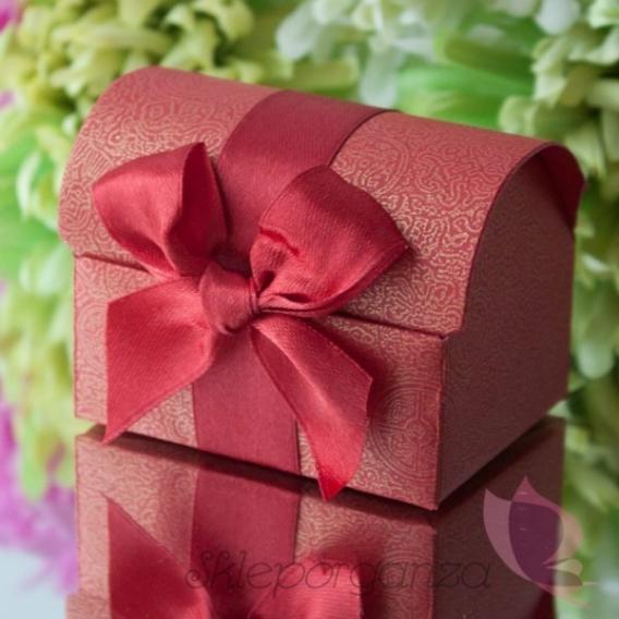 Pudełka Pudełko kuferek czerwony