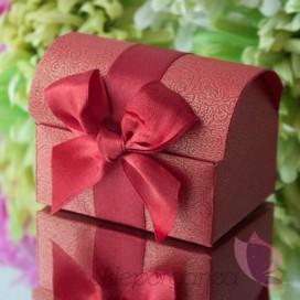 Pudełko kuferek czerwony