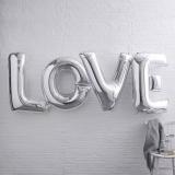 Balony Foliowe Balony LOVE srebrne