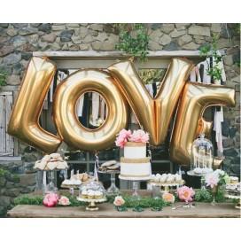 Balony foliowe Balony LOVE złote MEGA