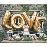 Balony LOVE złote