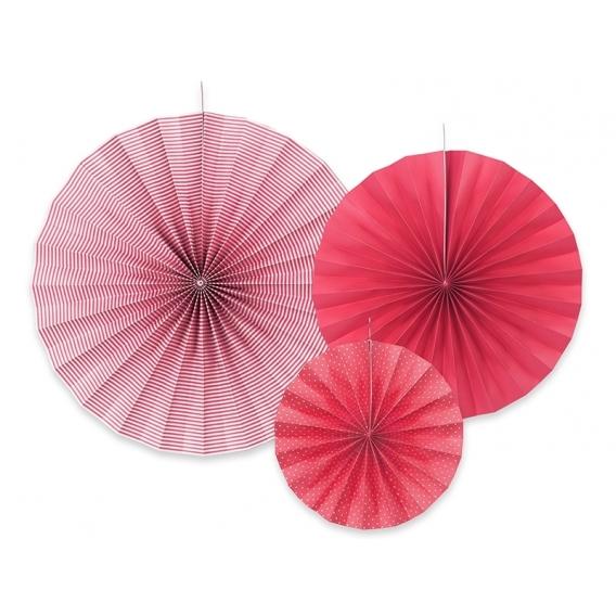 Rozety inne Rozety dekoracyjne malinowe, 3szt.
