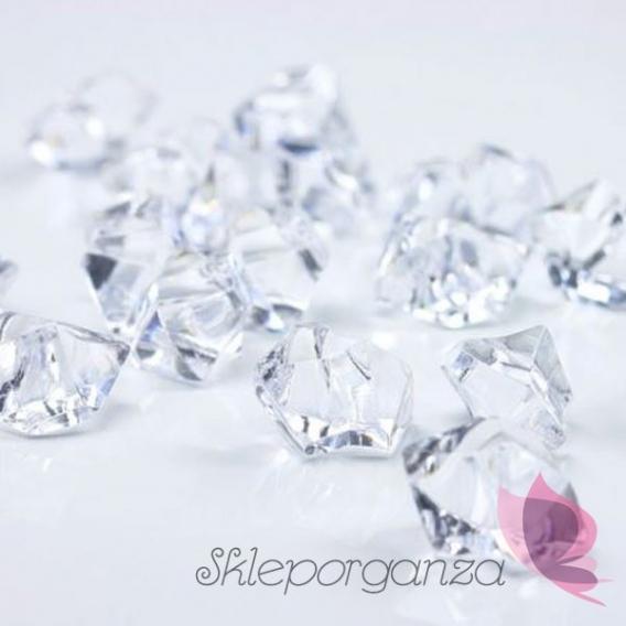 Kryształki Kryształowy lód bezbarwny 50 sztuk