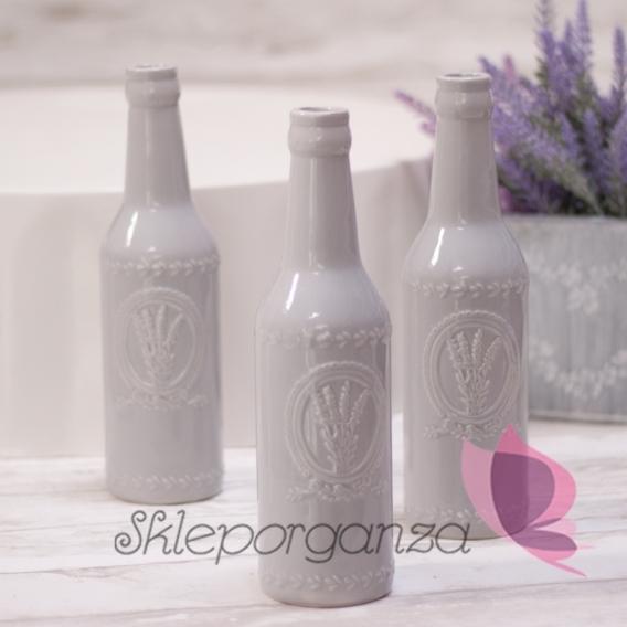 Butelka/wazonik szara