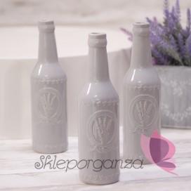 Szkło, świeczniki, wazony Butelka/wazonik szara