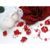 Kryształowy lód czerwony 50 sztuk