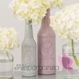 Szkło, świeczniki, wazony Butelka/wazonik lawendowa