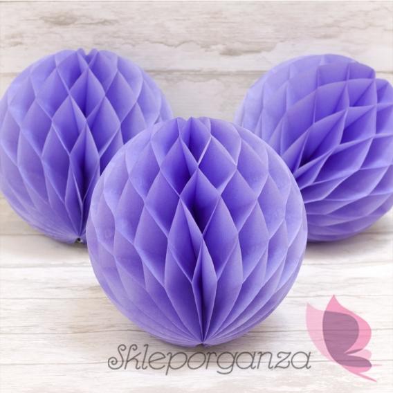 Pastele Papierowa kula fiolet 20cm