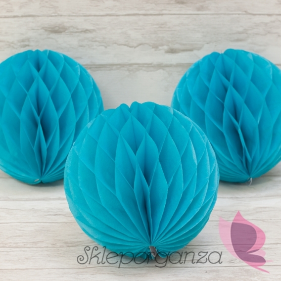 Paleta - niebieski, fuksja Papierowa kula turkus 20cm