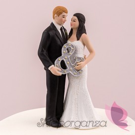 Porcelanowa Figurka na tort – Mr & Mrs