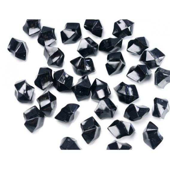 Kryształki Kryształowy lód czarny 50 sztuk