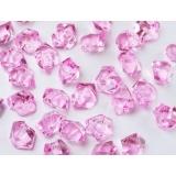 Kryształki Kryształowy lód różowy 50 sztuk