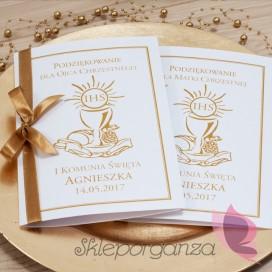 Kolekcja Złota Podziękowanie dla rodziców chrzestnych - personalizacja ZŁOTA