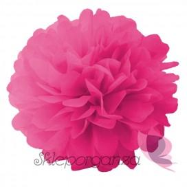 Papierowy kwiat, ciemnoróżowy, 25cm