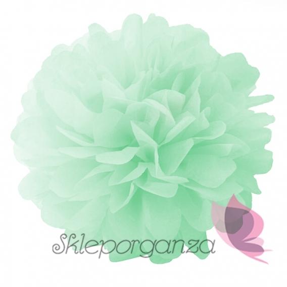 Papierowe kule kwiatowe pompony na wesele Papierowy kwiat, miętowy, 25cm