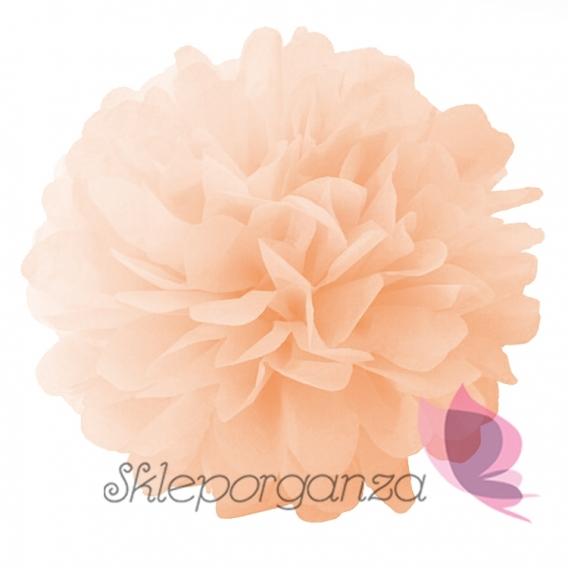Papierowe kule kwiatowe pompony Papierowy kwiat, brzoskwiniowy, 25cm