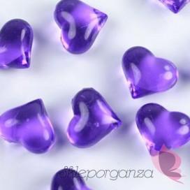 Kryształowe serca fioletowe 30 sztuk