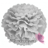 Papierowe kule kwiatowe pompony Papierowy kwiat, szary, 50cm
