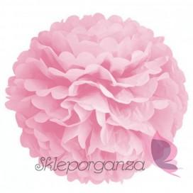 Papierowy kwiat, różowy, 50cm