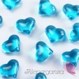 Kryształowe serca turkusowe 30 sztuk