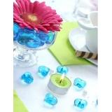 Kryształki Kryształowe serca turkusowe 30 sztuk