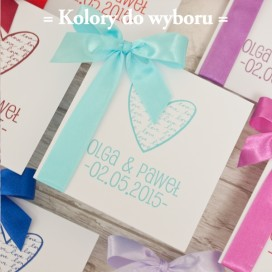 Zaproszenia ślubne Zaproszenie – personalizacja kolekcja – LOVE 2