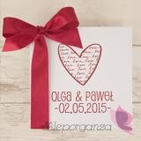 Zaproszenie - personalizacja kolekcja LOVE 2