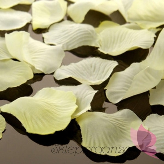 Płatki róż kremowe MEGA PAKA 500 sztuk