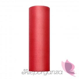 Tiul czerwony, rolka 15cm x 9m