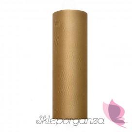 Tiul ślubny Tiul karmel, rolka 15cm x 9m