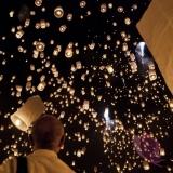 Latające lampiony Latające lampiony życzeń - białe