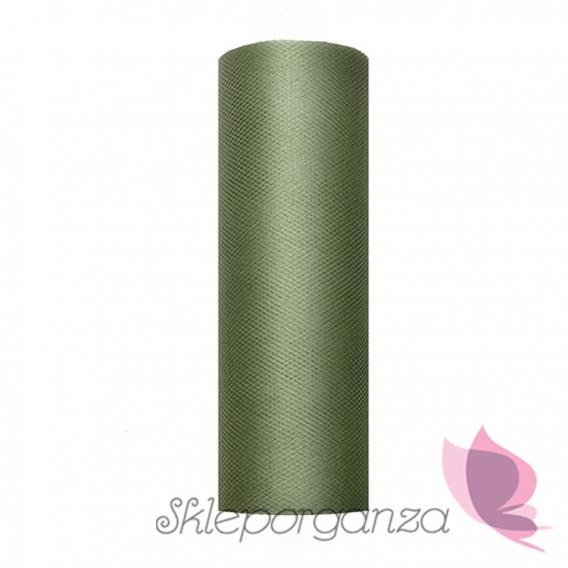 Tiul zielony, rolka 15cm x 9m