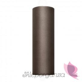 Tiul brązowy, rolka 15cm x 9m
