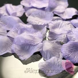 Płatki róż jasnofioletowe 100 sztuk
