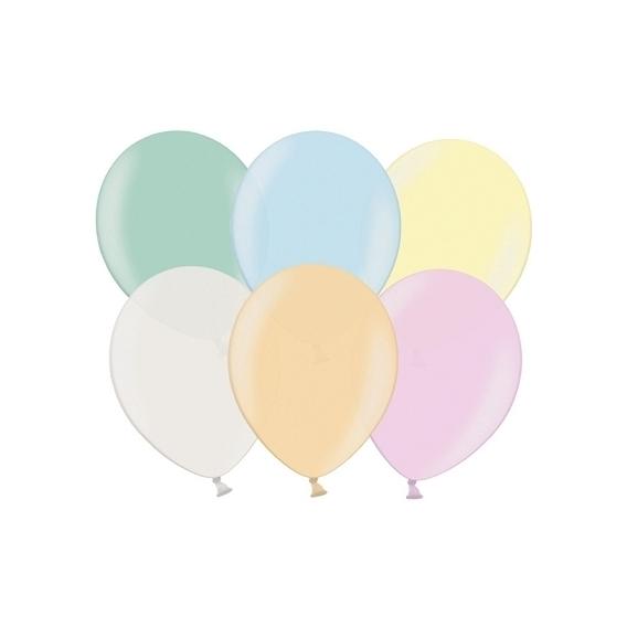 Balony metaliczne Balony METALICZNE perła MIX 30 cm, 100 sztuk