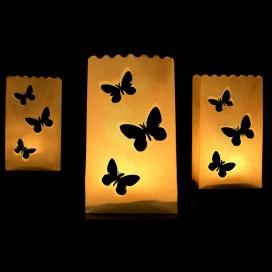Lampiony torebki Lampiony torebki motylki - 10 szt