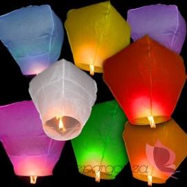 Latające lampiony Latające lampiony życzeń - mix kolorów 10szt