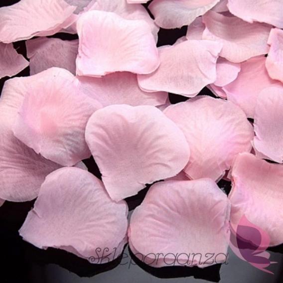 Płatki róż jasnoróżowe 100 sztuk