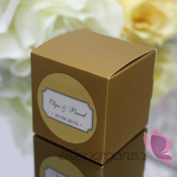 Pudełka Pudełko kostka złota - personalizacja