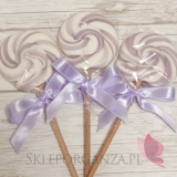 Kręcone lizaki na wesele Lizak okrągły liliowy