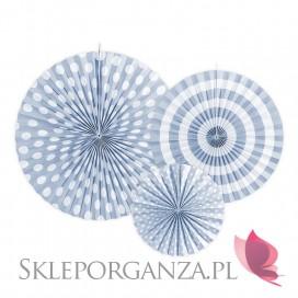 Niebieski Rozety dekoracyjne jasnochabrowe 3szt.