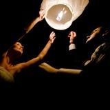 Latające lampiony weselne Latające lampiony życzeń - białe