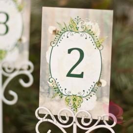 Numery stolików - personalizacja kolekcja WOODLAND