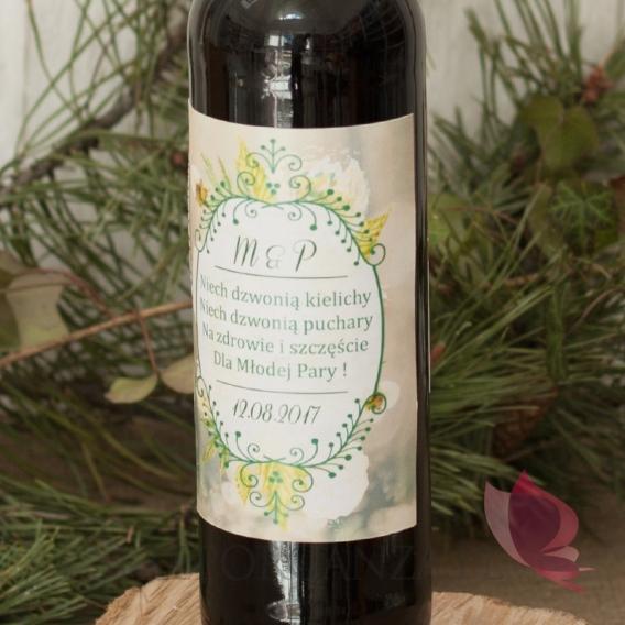 Etykieta na alkohol- personalizacja kolekcja WOODLAND