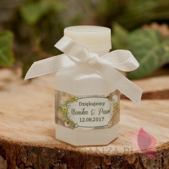 Bańka mydlana bteleczka - personalizacja kolekcja WOODLAND